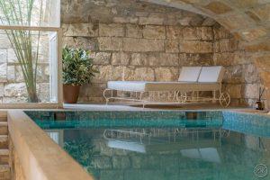 Arredamento bordo piscina, piscina riscaldata - Villa Galatea, San Vincenzo, arredo - GH Lazzerini, Toscana