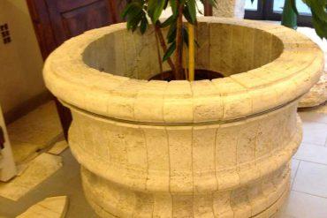 fioriere in pietra - natural stone flowerpot - gh lazzerini