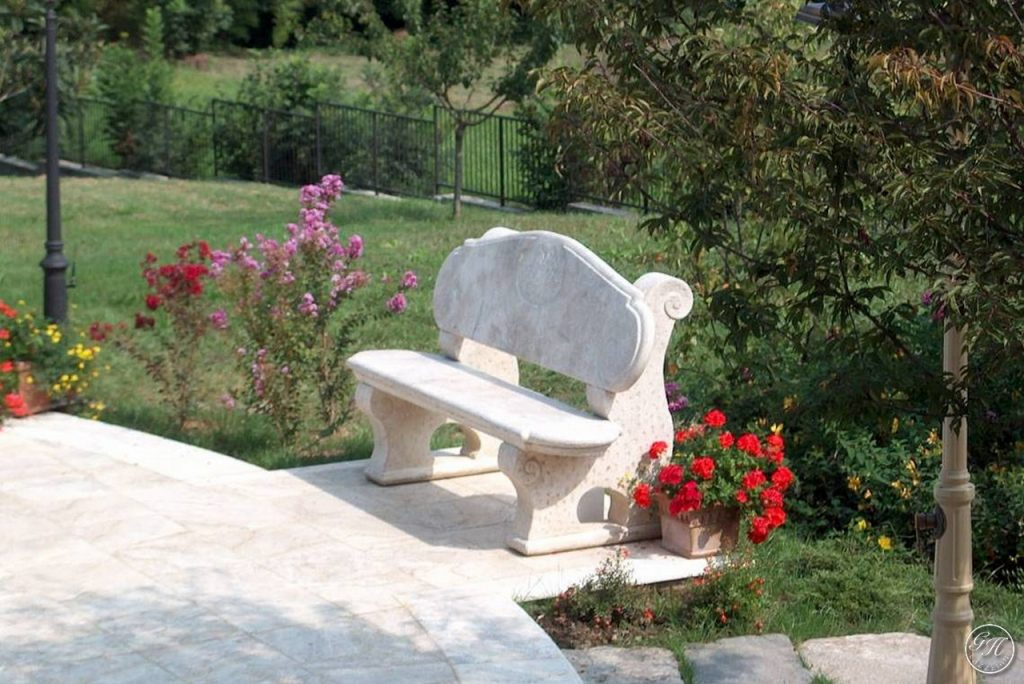 Panchine Da Esterno In Pietra.Panchine In Pietra Naturale Garden House Lazzerini Made In Italy