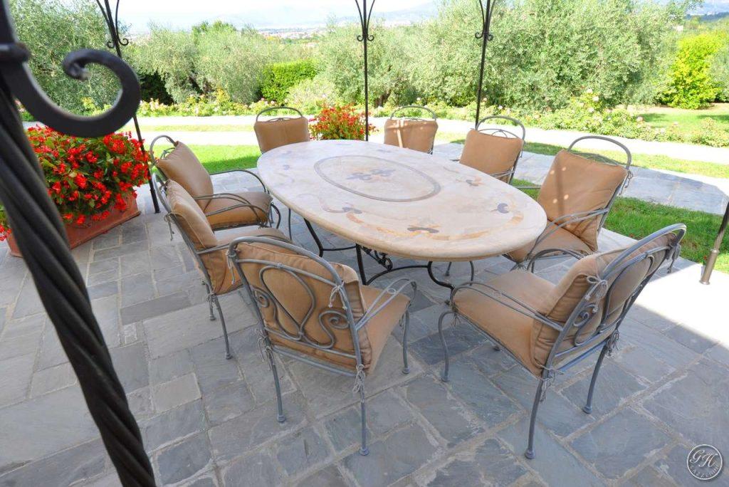 Tavoli In Travertino Da Esterno.Tavoli In Pietra Naturale Garden House Lazzerini Made In Italy