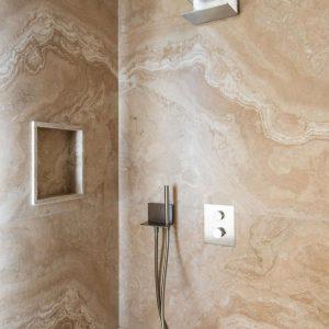 Box doccia, bagno in stile classico, materiali naturali di pregio, GH Lazzerini