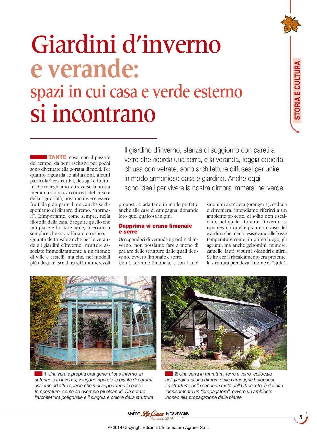 La Veranda Di Campagna vivere la casa - autumn 2014 - garden house lazzerini