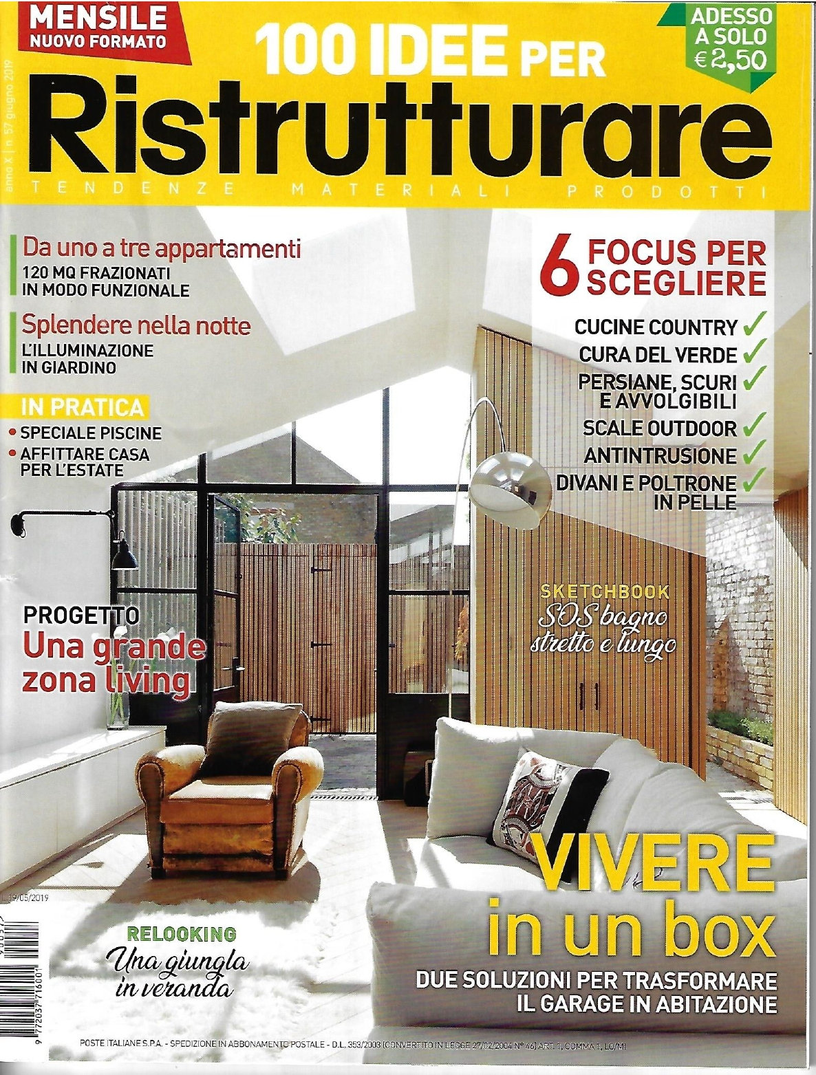 COPERTINA 100 IDEE PER RISTRUTTURARE 06/2019 - Outdoor kitcheno